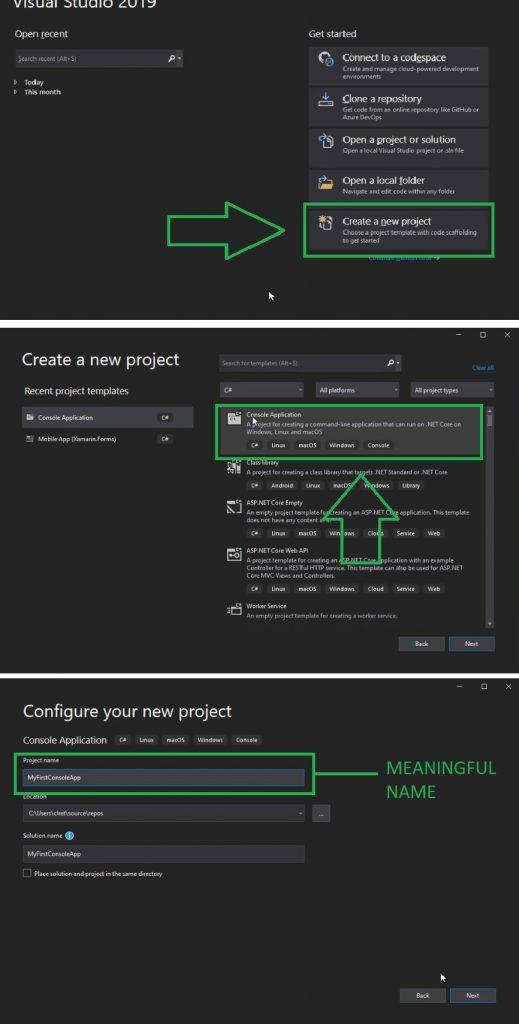 C# programming setup visual studio